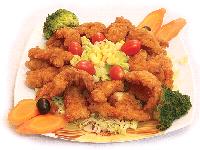 میگو سوخاری با سبزیجات